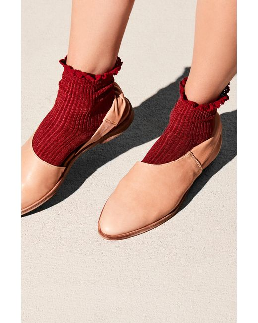 Free People - Red Bryant Heather Ankle Sock - Lyst