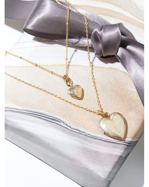 Free People | Black Double Locket Necklace | Lyst