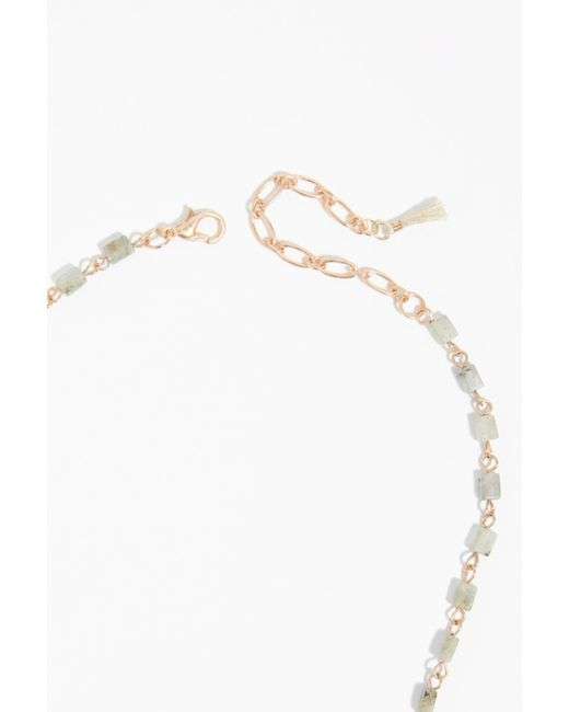 Free People - Metallic Sadie Stone Bolo Necklace - Lyst