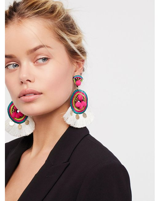 Free People | Multicolor Mai Tai Statement Earring | Lyst