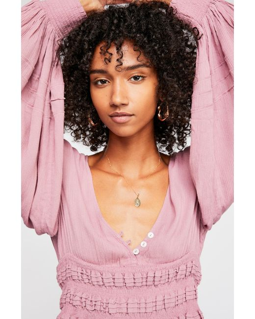 Free People - Pink Coco Loco Cute Top By Endless Summer - Lyst