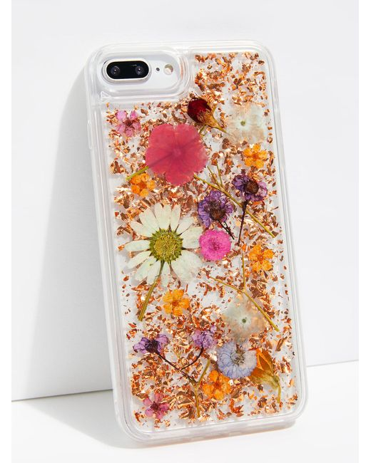 Free People - Pink Luxe Pressed Flower Phone Case - Lyst