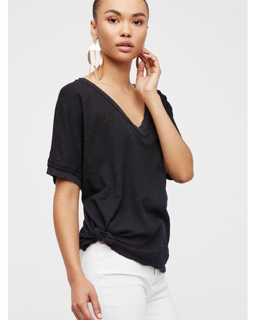 Free People - Black Take Me Tee - Lyst