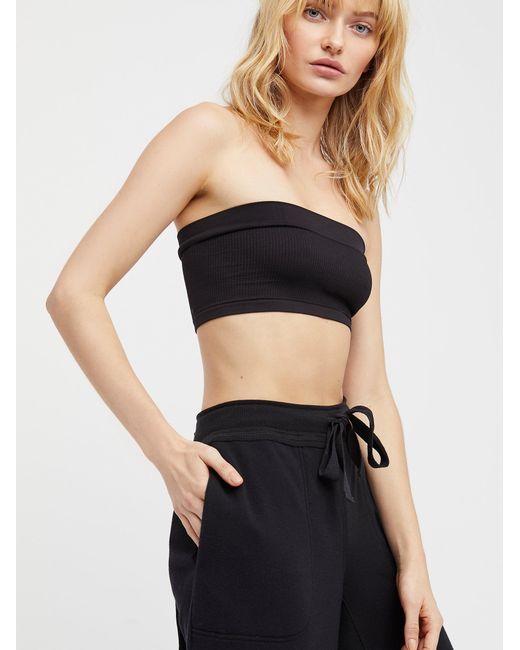 Free People - Black Not So Basic Bandeau By Intimately - Lyst