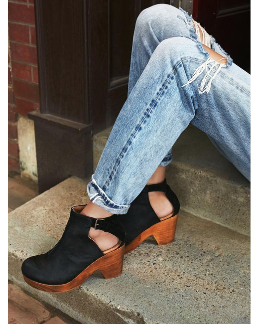 Free People | Black Amber Orchard Clog | Lyst