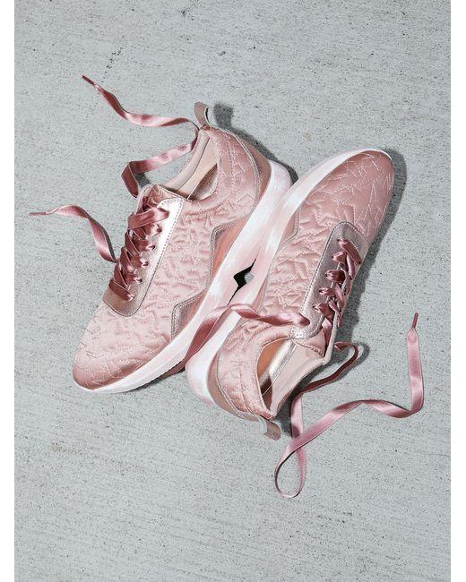 Free People | Pink Shoes Sneakers Stardust Sneaker | Lyst