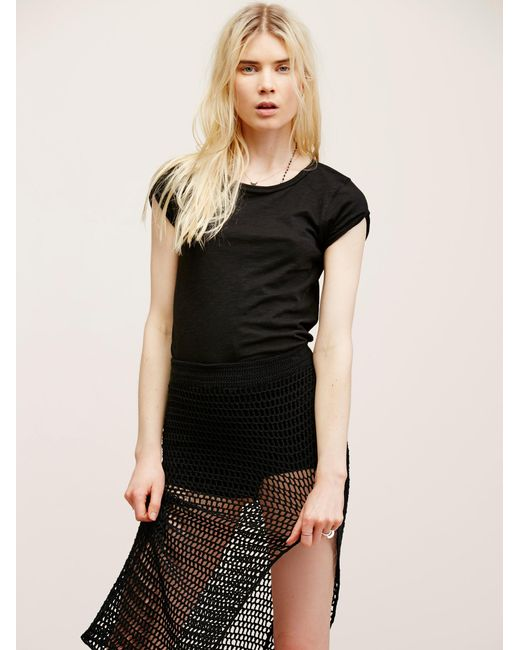 Free People   Black We The Free Clare Tee   Lyst