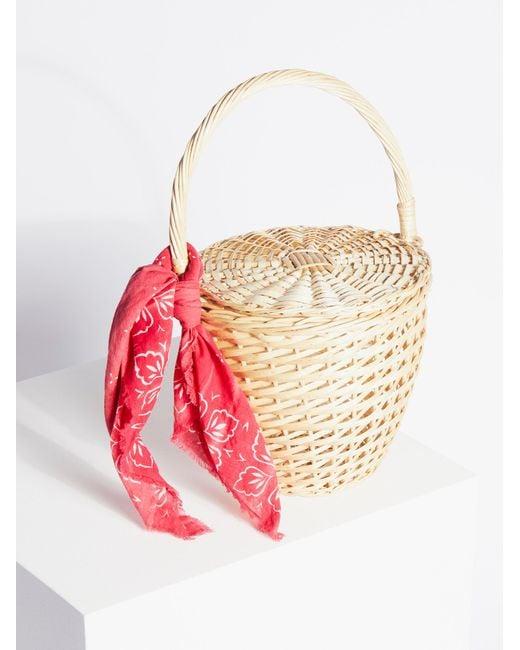 Free People | Natural Straw Basket | Lyst