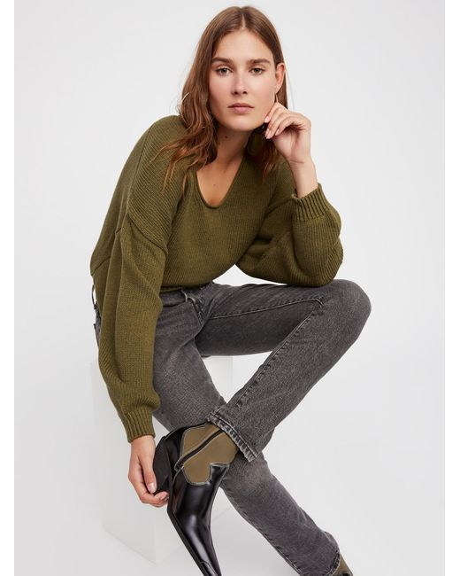 Free People | Green Perfect Day Pullover | Lyst