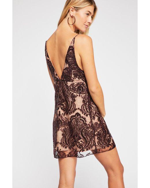 efc271fd1763 Free People - Multicolor Night Shimmers Mini Dress - Lyst ...