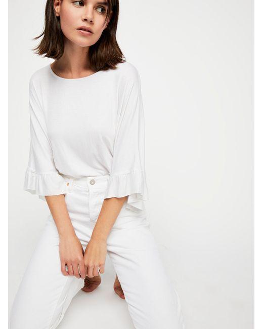 Free People - White Get Low Bodysuit - Lyst