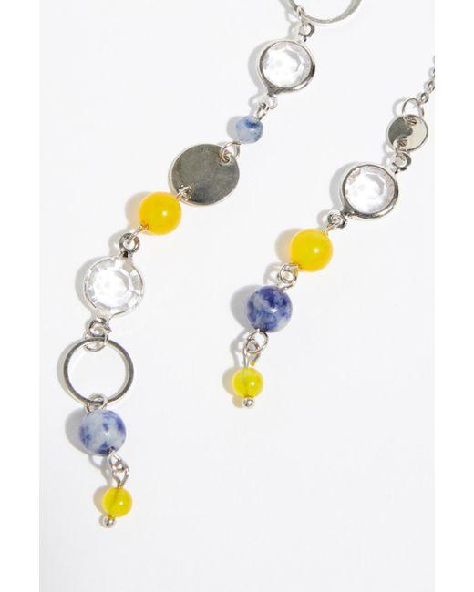 Free People - Blue Eclipse Asymmetrical Earrings - Lyst