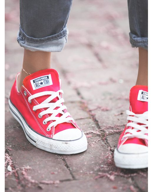 Free People | Red Charlie Converse | Lyst