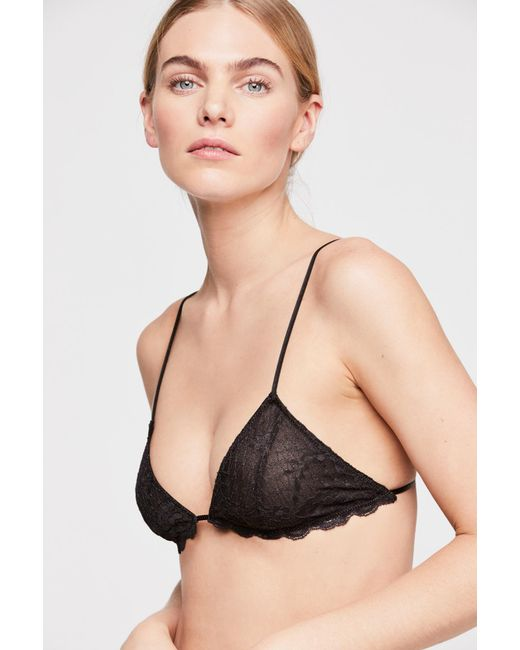 284b862dfb23a Free People - Black Essential Triangle Bra By Intimately - Lyst ...