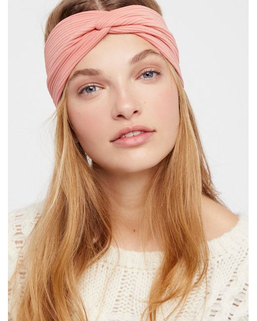 Free People | Brown All Day Solid Knit Turban | Lyst