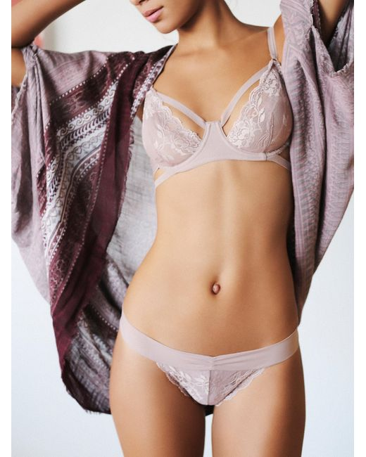Free People | Pink Dream Of Me Thong Dream Of Me Underwire Bra | Lyst