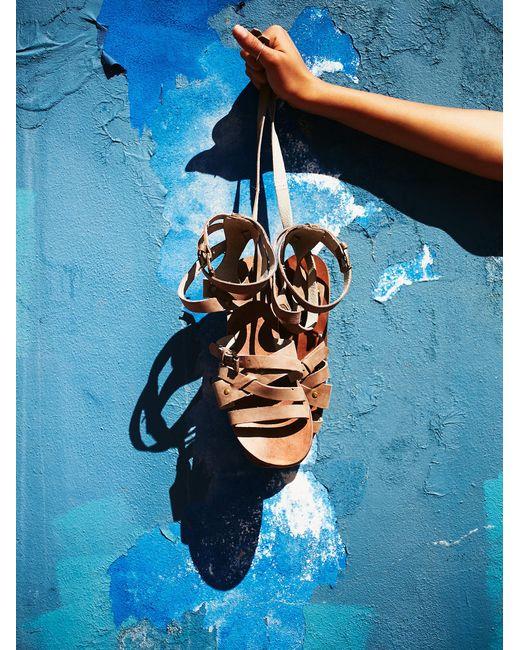 Free People | Natural Durango Metal Gladiator Sandals | Lyst