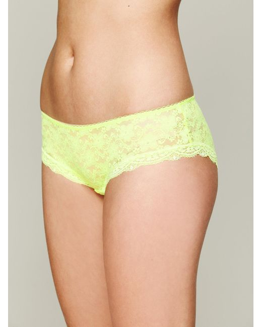 Free People - Green Lacey Basic Undie - Lyst