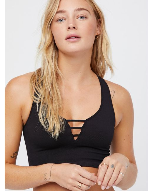 Free People - Black Strapped Brami - Lyst