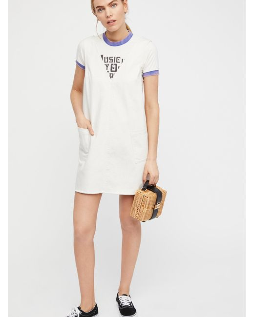 Free People | White Going West Mini Dress | Lyst
