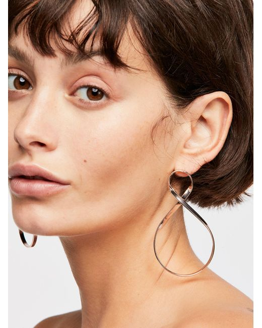 Free People - Multicolor Infinity Hoop Earrings - Lyst