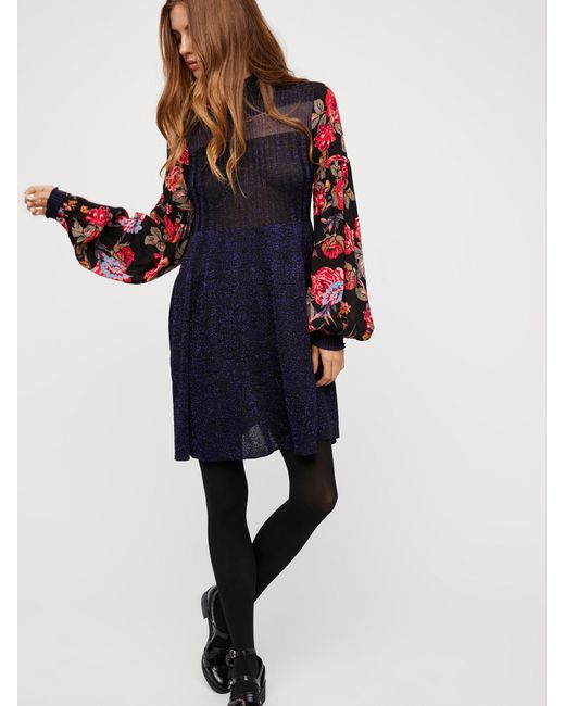 Free People | Black Rose And Shine Sweater Dress | Lyst