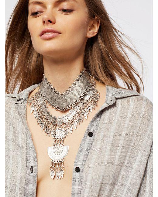 Free People | Metallic Good Vibrations Metal Collar | Lyst