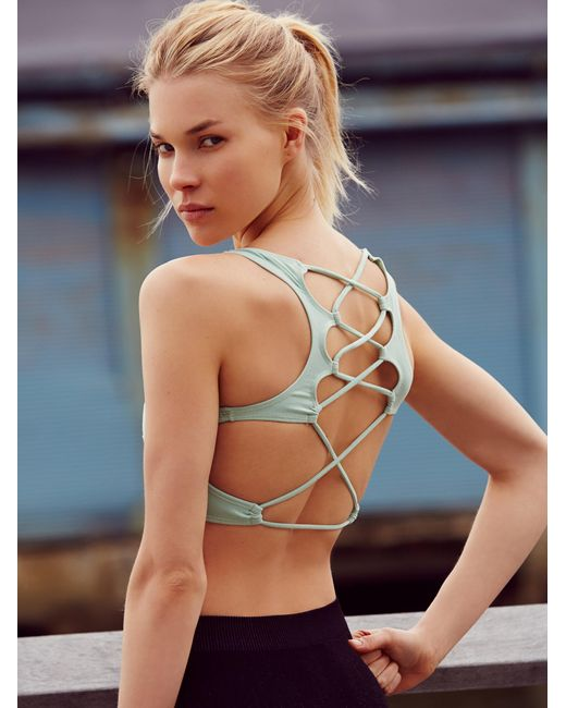 Free People | Green Lattice Back Bra | Lyst