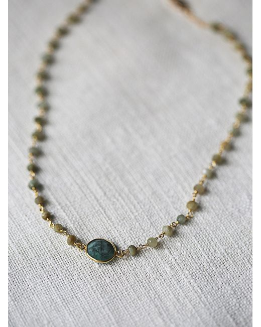 Free People | Green Libi Stone Choker | Lyst