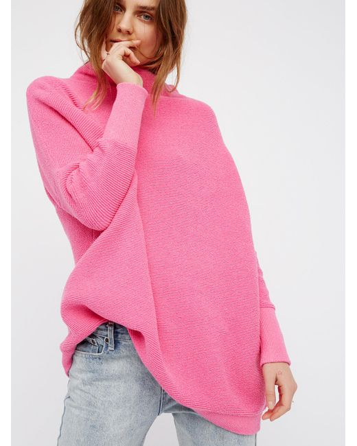 Free People Ottoman Slouchy Tunic In Pink Lyst