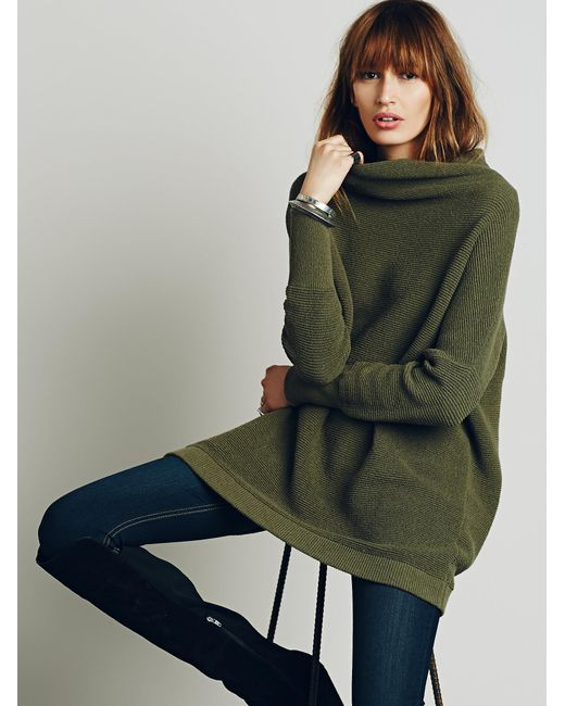 Free People | Green Ottoman Slouchy Tunic | Lyst