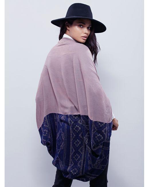 Free People | Purple Sammy Raw Edge Kimono | Lyst