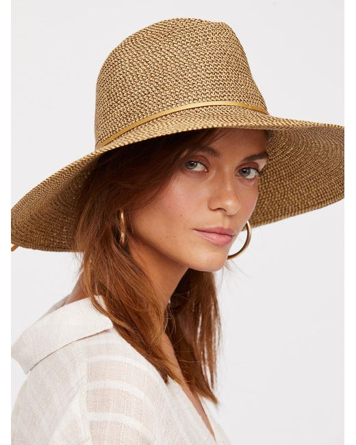 Free People   Multicolor Sancho Metallic Packable Hat   Lyst