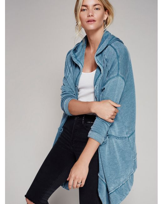 Free People | Blue St. Marks Cardi | Lyst