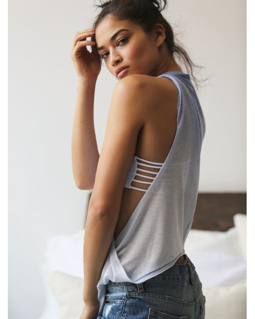 Free People | White Strappy Side Bra | Lyst