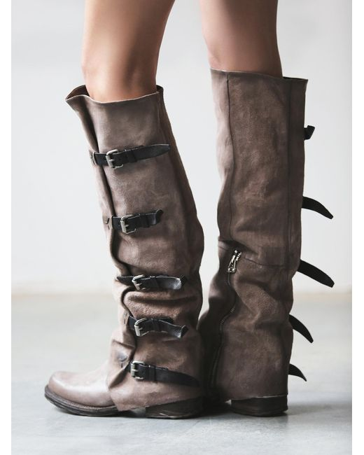 Free People | Brown Tatum Over The Knee Boot | Lyst
