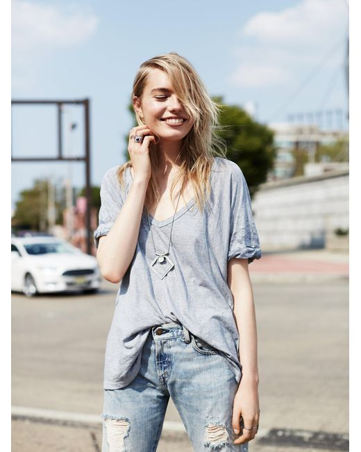 Free People | Blue We The Free Free Fallin Tee | Lyst