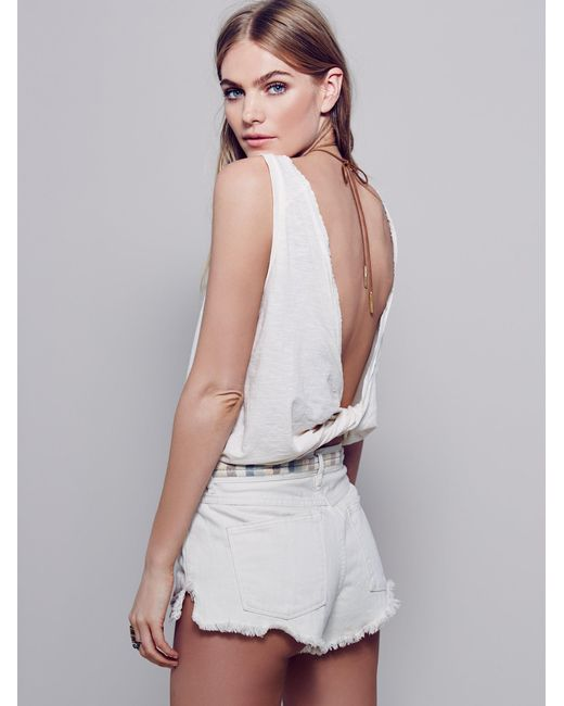 Free People   White We The Free Winchester Tank   Lyst