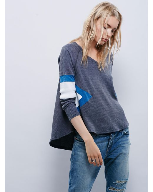 Free People | Gray We The Free New Direction Tee | Lyst