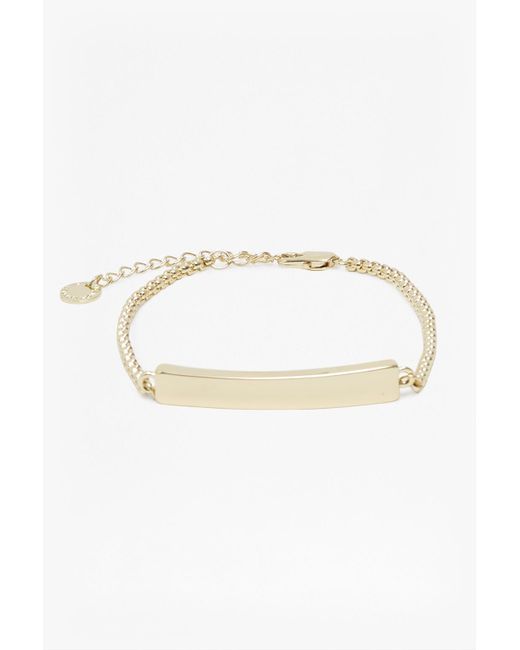 French Connection | Metallic Core Chunky Bar Bracelet | Lyst