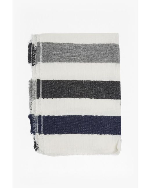 French Connection | Gray Philomena Striped Scarf | Lyst