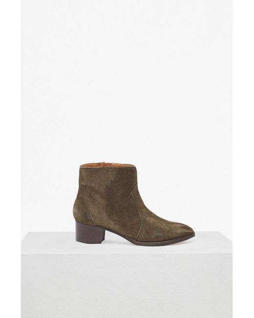 French Connection - Brown Katy Suede Western Ankle Boots - Lyst
