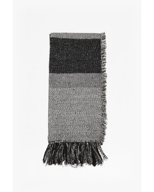 French Connection | Gray Pippa Tweed Scarf | Lyst