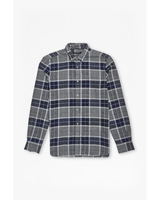 French Connection | Brown Large Check Flannel Shirt for Men | Lyst