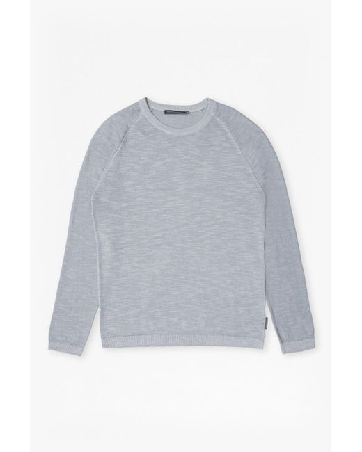 French Connection | Blue Arambol Slub Knit Linen Blend Jumper for Men | Lyst