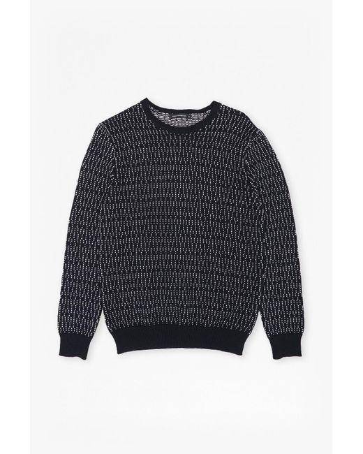French Connection | Blue Kilmer Dot Knit Jumper for Men | Lyst