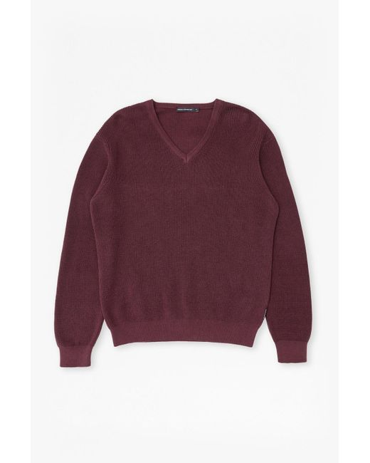 French Connection   Purple Encore Knits V Neck Jumper for Men   Lyst