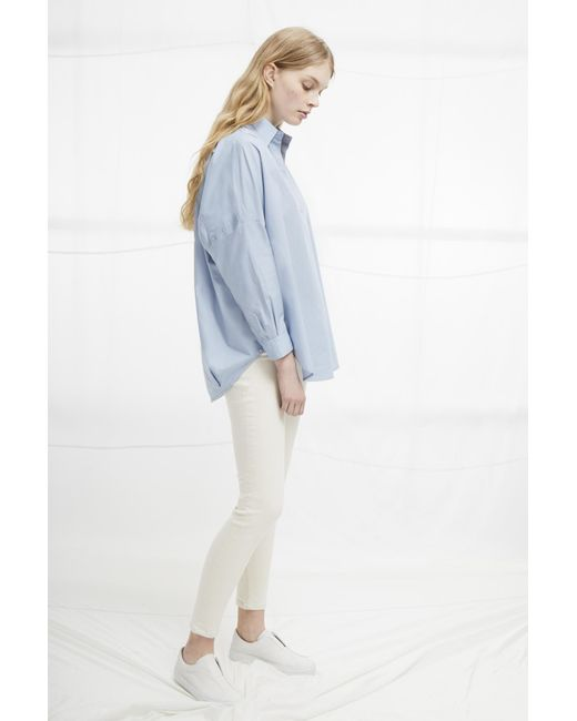 03281f2e4f9 Lyst - French Connection Rhodes Poplin Relaxed Fit Shirt in Blue