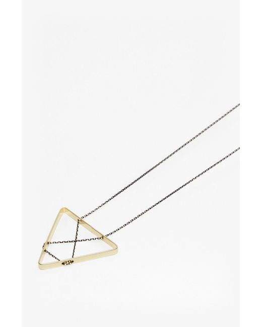 French Connection | Metallic Geo Triangle Pendant Necklace | Lyst