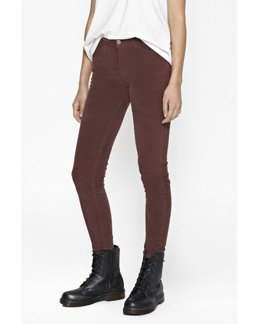 French Connection | Brown Hendrix Velvet Skinny Jeans | Lyst